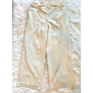 LANE BRYANT Ivory Wide Leg Trousers Dress Pants